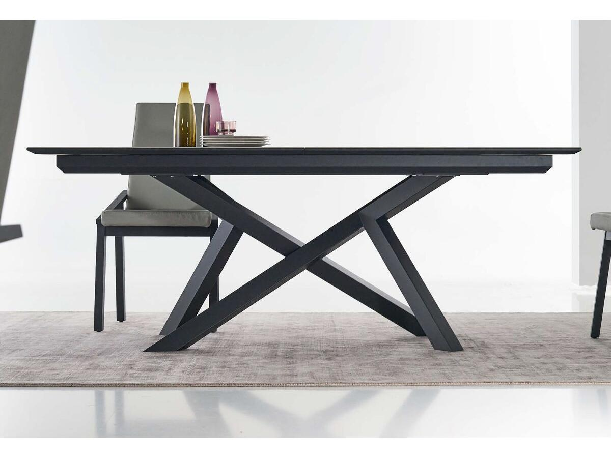 table extensible c ramique pieds m tal st junien. Black Bedroom Furniture Sets. Home Design Ideas