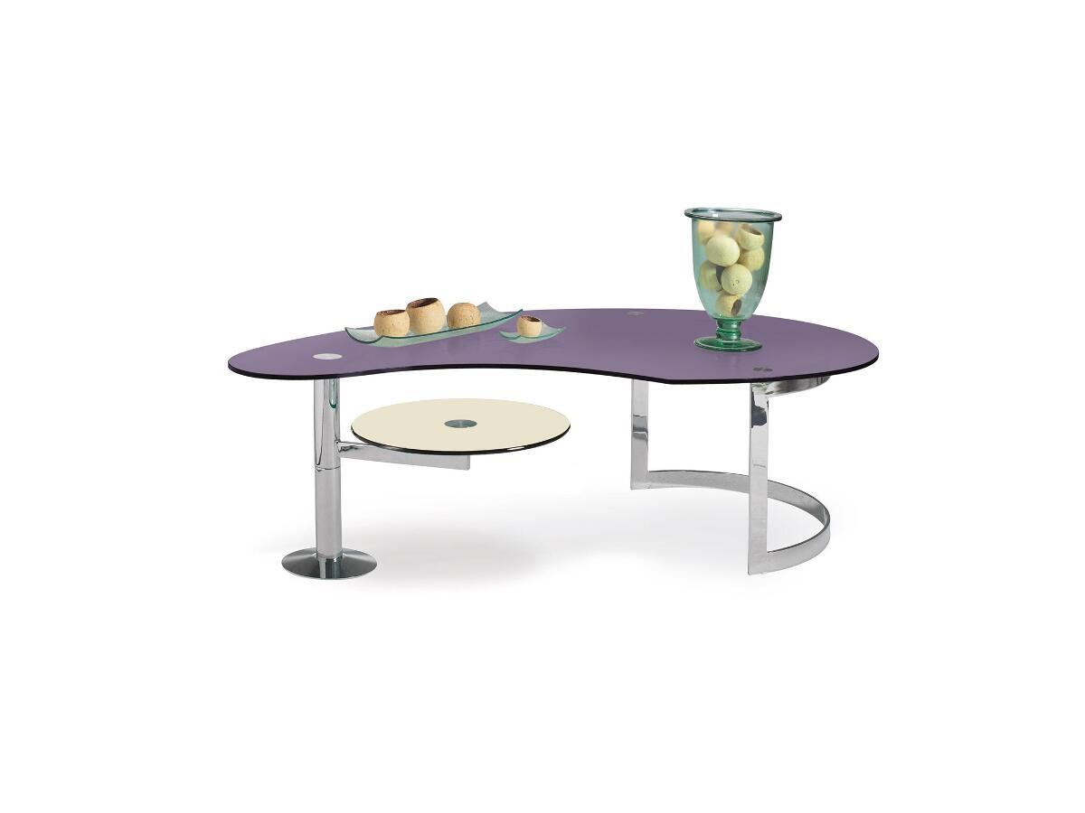 table de salon demi ovale st junien. Black Bedroom Furniture Sets. Home Design Ideas